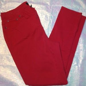 Ashley Stewart Red Stretch Skinny Jeans